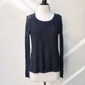 LUCKY BRAND Blue Cable-Knit Sweater Size S
